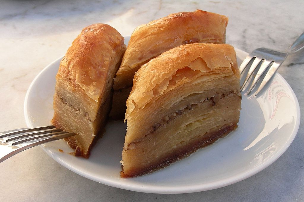 Eating baklava with aPalestinian